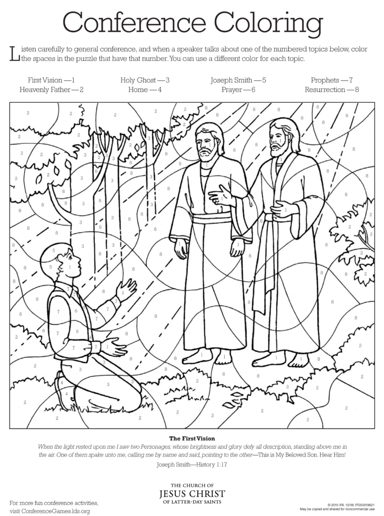 "General Conference Activity & Coloring Sheets- ""FAVORITES ..."